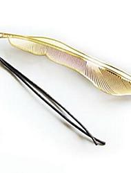 18K Creative Metal Feather Bookmark
