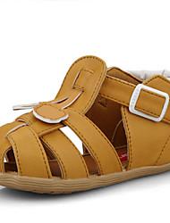 Boy's Slippers & Flip-Flops Summer Comfort / Round Toe / Sandals Microfibre Casual Flat Heel Buckle Brown / White