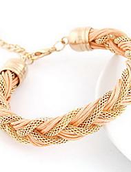 Golden Chain Weave Bracelet