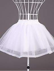Slips Ball Gown Slip Short-Length 2 Tulle Netting White / Black