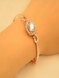Gold/Silver Alloy Bangle Bracelet