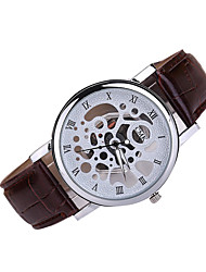 Men's Dress Watch Casual Watch Quartz Japanese Quartz Leather Band Black White Brown Multi-Colored