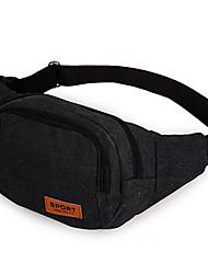 Men PVC Formal Waist Bag Black / Khaki