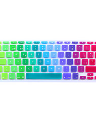 Spanish Language European version Bright Silicone Keyboard Cover Skin for MacBook Air 11.6/13.3, MacBook Pro 13.3/15.4