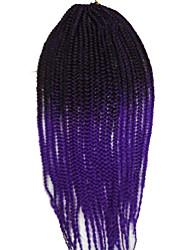 "24"" 3x box braid crochet hair braids synthetic hair extensions Kanekalon Jumbo Braid Havana Mambo Twist"