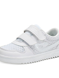 Girl's Sneakers Summer Tulle Casual Flat Heel Others Hook & Loop White