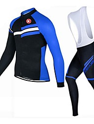 KEIYUEM Cycling Jersey with Bib Tights Unisex Long Sleeve Bike Jersey Tights Clothing SuitsQuick Dry Dust Proof Wearable Breathable