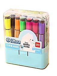 Peinture Stylo Stylos de couleur de l'eau Stylo,Plastique Baril Rouge Noir Bleu Jaune Violet Orange Vert Couleurs d'encre For Fournitures