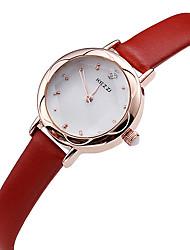 Women's Casual Fashion Leather Band Quartz Watch