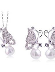 Women's Ambilight Sweet Butterfly Shape Necklace Earring Sets