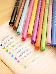 Peach Heart Colour Drill Bit Color Pen Neutral Pen