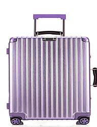 Unisex PVC Outdoor Luggage Purple / Silver / Black