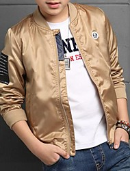 Boy's Casual/Daily Print Jacket & Coat,Polyester Spring / Fall Black / Gold