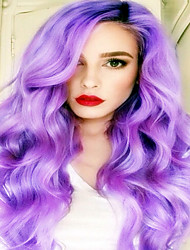 Synthetic Lace Front Wig Purple Color Sexy Cosplay Wigs