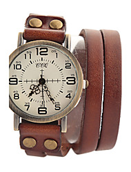 Da donna Orologio alla moda / Orologio da polso / Orologio braccialetto Quarzo Orologio casual Pelle Banda Vintage / FantasticoNero /