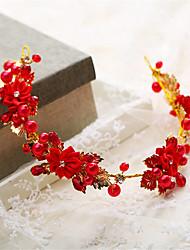 Mujer Niña de flor Perla Diamantes Sintéticos Aleación Celada-Boda Ocasión especial Tiaras 1 Pieza
