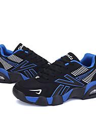 Homme-Décontracté / Sport-Orange / Noir et blanc / Bleu royal-Talon Plat-Styles / Bout Arrondi-Sneakers / Sabots & Mules-Tulle
