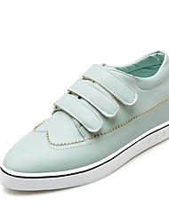 Women's Shoes Leatherette Spring / Summer / Fall Comfort Loafers &  Casual Flat Heel Hook & LoopBlack / Blue