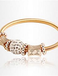 Damen Strang-Armbänder Modisch Aleación Herzform Golden Schmuck Für 1 Stück