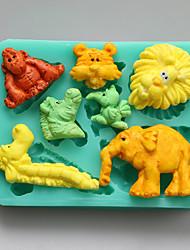Animals Shape Chocolate Silicone Molds,Cake Molds,Soap Molds,Decoration Tools Bakeware