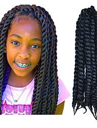 "Blackish Grey 12"" Kid's Kanekalon Synthetic 2X Havana Mambo Twist 100g Hair Braids with Free Crochet Hook"