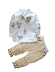 Baby Casual/Daily Print Clothing Set,Cotton Fall-Green / White