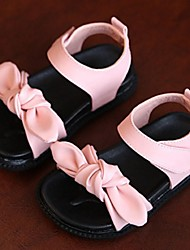 Girls' Shoes Casual  Flats Summer Comfort / Round Toe Flat Heel Bowknot Pink / White
