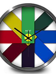Simple And Creative Home Furnishing Gradient Stickers Mute Quartz Wall Clock