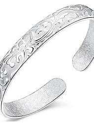 Silver Plated Star Shape Bangle Bracelet