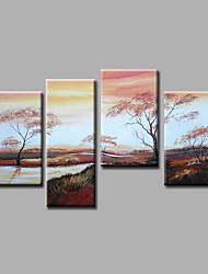 Ручная роспись Пейзаж Modern,4 панели Холст Hang-роспись маслом