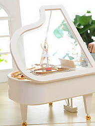 White Piano Music Box Shape