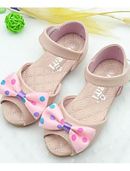 Girl's Sandals Summer Comfort Faux Leather Casual Pink White