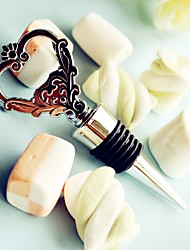 Groom / Groomsman - 1 Piece/Set Heart Wine Bottle Stopper and Opener 2in1 Functions Practical Wine Tools Kitchen Favor