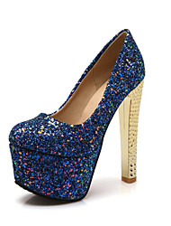 Women's Shoes Glitter / Customized Materials Spring /Winter Heels / Platform / Basic Pump / Round Toe HeelsParty