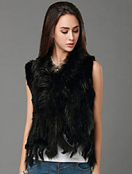 Women Rabbit Fur/Raccoon Fur Top