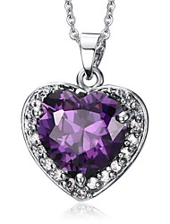 Necklace Pendant Necklaces / Pendants Jewelry Daily / Casual Fashionable Cubic Zirconia Purple 1pc Gift