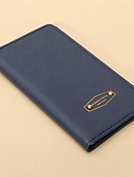 Travel Wallet Passport Holder & ID Holder Waterproof for Travel StorageOrange Dark Blue Blushing Pink