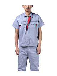 The construction site repair workshop cotton overalls made new security clothing men's suits, uniforms short sleeved