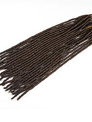 #30 Havanna / Gehäkelt Dread Locks Haarverlängerungen 20 Inch Kanekalon 20 Strand 90g Gramm Haar Borten