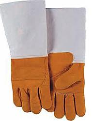 welads® indústria luvas de solda de solda polegar oblíqua 10-9534 dividida palma