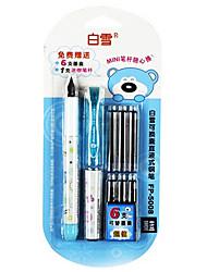 перо авторучки, металл / пластик цвет записи (синий)