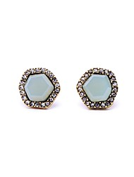 European Style Geometric Rhinestone Stud Earrings for Women Fashion Jewelry