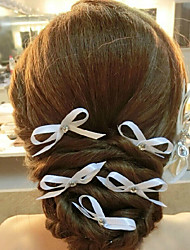 Women's Satin Headpiece-Wedding Hair Pin 1 Piece White