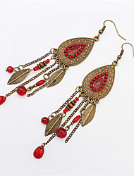 Stylish Atmosphere Oval Leaves Earrings