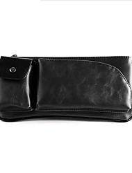 Masculino PVC Formal Bolsa de Cintura Marrom / Preto