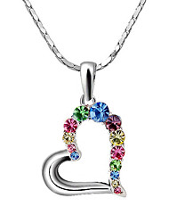 Women's Couple's Pendant Necklaces Crystal Crystal Cubic Zirconia Alloy Fashion Adorable Rainbow Transparent JewelryWedding Party Daily