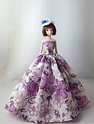 Princesse Robes Pour Poupée Barbie Pourpre clair Robes Pour Fille de Doll Toy