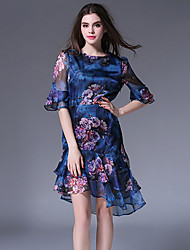 MAXLINDY  Women's Vintage Going out / Party/ Sophisticated Chiffon Dress