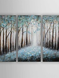 Oil Painting Abstract Landscape Set of 3 Hand Painted Canvas with Stretched Framed Ready to Hang