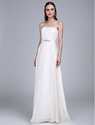 2017 Lanting Bride® Floor-length Chiffon Bridesmaid Dress - Strapless with Draping